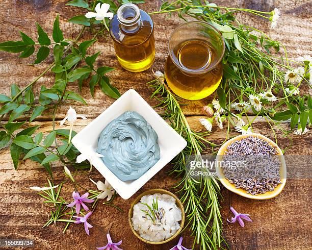 El Spa Vida de hierbas, aceite, mud máscara a rosemary, de sal