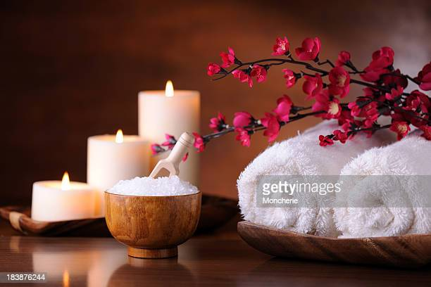 spa treatment - candle stock pictures, royalty-free photos & images