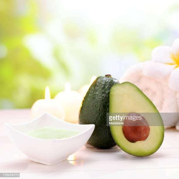 Spa Treatment with avacado cream