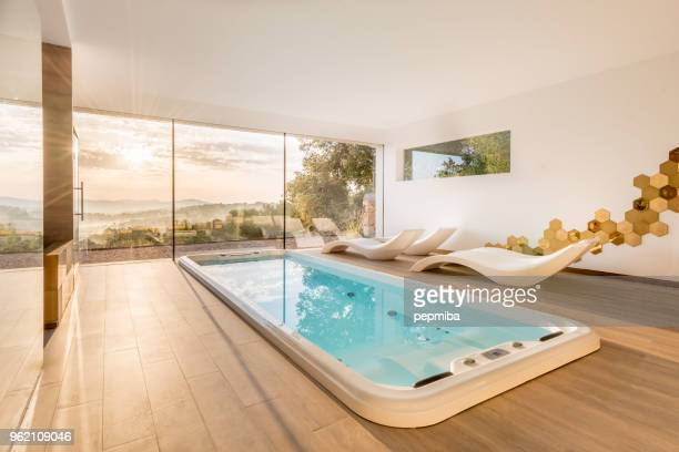 spa with whirlpool and sauna - health farm stock pictures, royalty-free photos & images