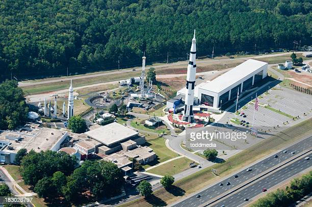 Space complex showcasing Saturn V rocket