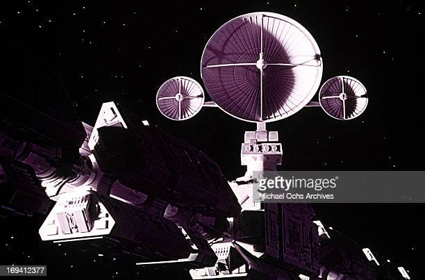 A space craft in a scene from the film '2001 A Space Odyssey' 1968