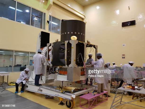 Space engineers at work in making the Chandryaan2 spacecraft The Indian Space Research Organisation or ISRO is putting finishing touches to India's...