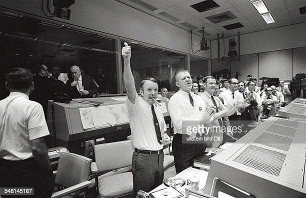 Space exploration American Apollo program manned mission APOLLO 13 Mission Control Center in Houston Three of the four Apollo 13 Flight Directors...