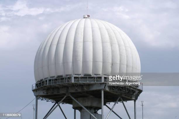 space exploration ground control radar, crimea - argenberg stock-fotos und bilder