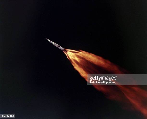 11th April 1970 US spacecraft Apollo 13 blasts off from Cape Kennedy USA The mission nearly ended in disaster a malfunction causing the proposed...