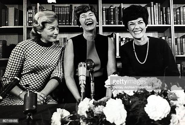 1969 The wives of the 3 Apollo 11 astronauts pictured in London lr Joan Aldrin Janet Armstrong and Patricia Collins Neil Armstrong became an...