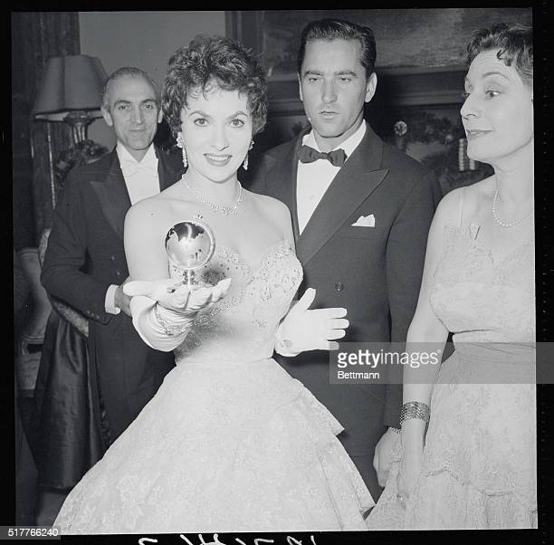 Space Girl of 1954 Rome Italy Italian film beauty Gina Lollobrigida was guest of honor at the Foreign Press Club's masked ball last night where she...