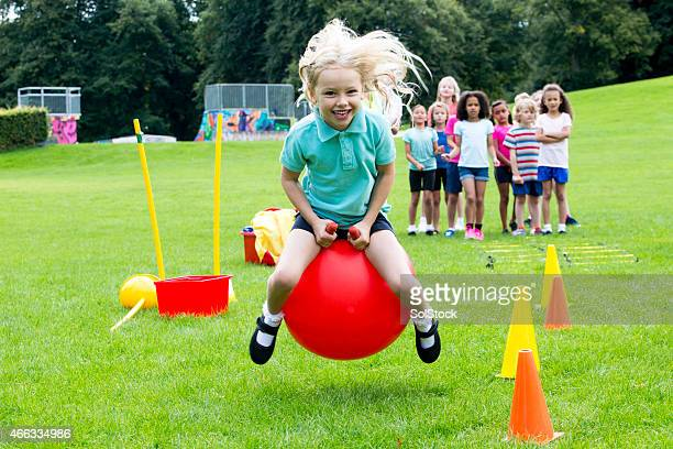 space hopper challenge - sports ball stock pictures, royalty-free photos & images
