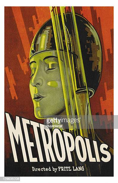 Space lady on a poster that advertises the movie 'Metropolis' 1927