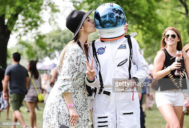 Space Man Does is seen during Day 2 of the 2016 Governors Ball Music Festival at Randall's Island on June 4 2016 in New York City