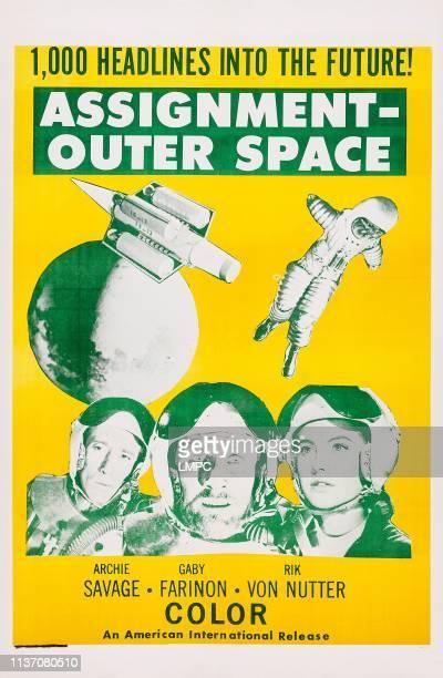 Space Men poster lr Archie Savage Rik Von Nutter Gabriella Farinon on poster art 1960