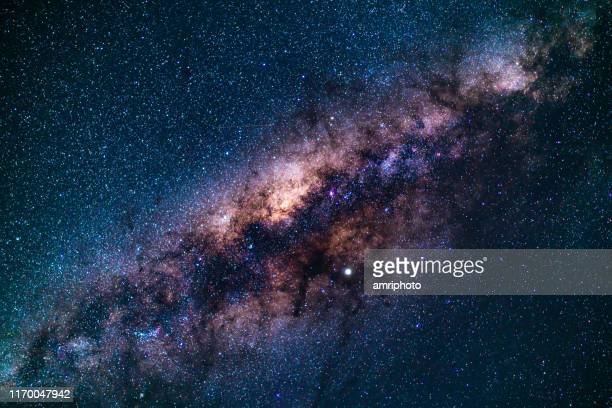 space - milky way - galaxy stock pictures, royalty-free photos & images