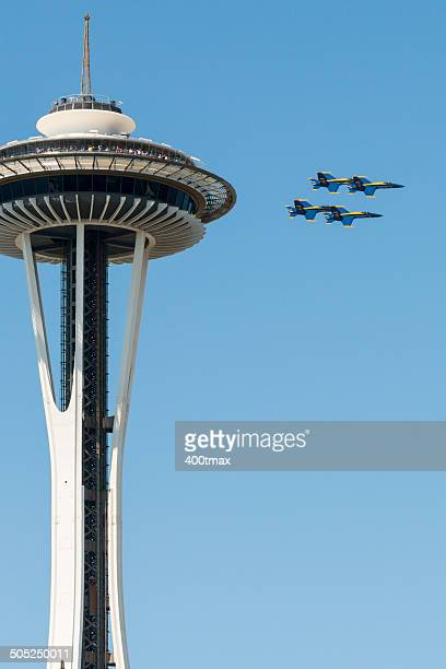 Space Needle and Blue Angels