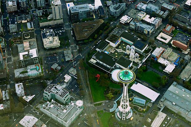 Space Needle And Seattle Aerial Wall Art