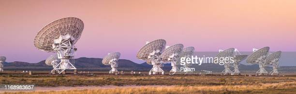 space observatory radio telescope panoramic - receiver stock pictures, royalty-free photos & images