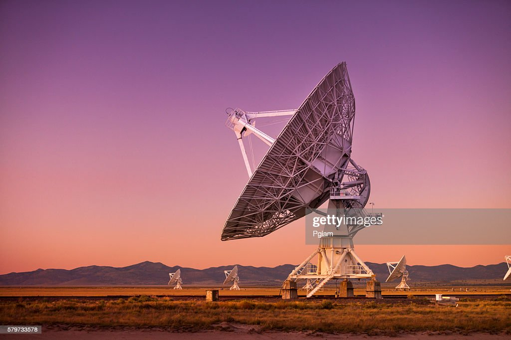 Space observatory signal search : Stock Photo