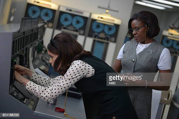 TIMELESS 'Space Race' Episode 107 Pictured Abigail Spencer as Lucy Preston Nadine Ellis as Katherine Johnson