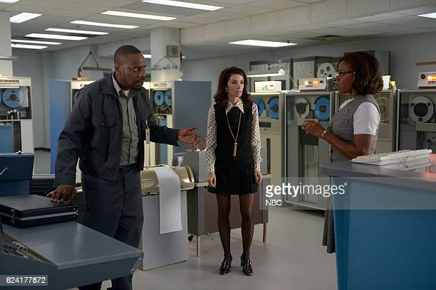 TIMELESS 'Space Race' Episode 107 Pictured Malcolm Barrett as Rufus Carlin Abigail Spencer as Lucy Preston Nadine Ellis as Katherine Johnson