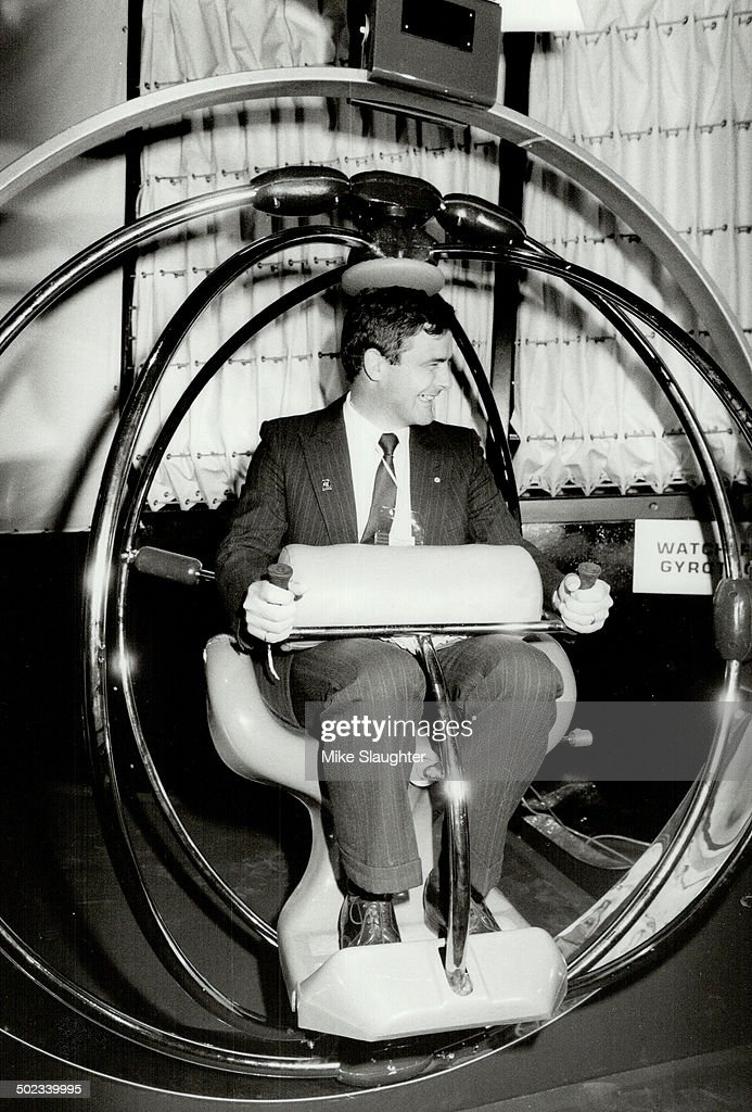 Marc Garneau; Canada's first astronaut; sits in the ...