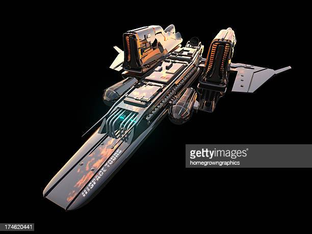 space ship isolated - spaceship stock photos and pictures