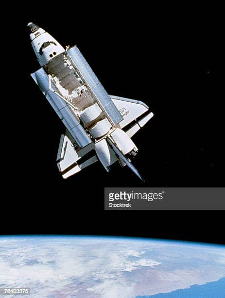 Space shuttle Challenger orbiting