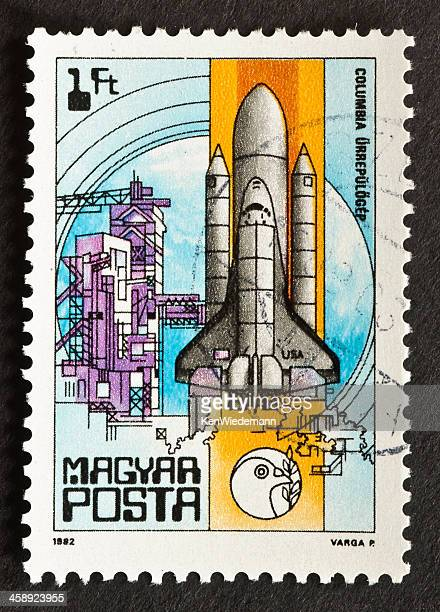 space shuttle columbia stamp - disintegration stock photos and pictures
