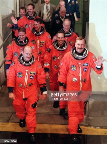 Space shuttle crew US Pilot Scott Kelly US Commander Curt Brown US John Grunsfeld French JeanFrancois Clervoy US Michael Foale Swiss Claude Nicollier...