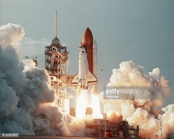 Space Shuttle Discovery launches from Kennedy Space Center on September 9 1994