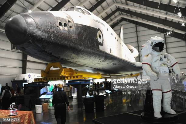 Space Shuttle Endeavor at the 2018 Yuri's Night Earthrise event held at California Science Center on April 7 2018 in Los Angeles California