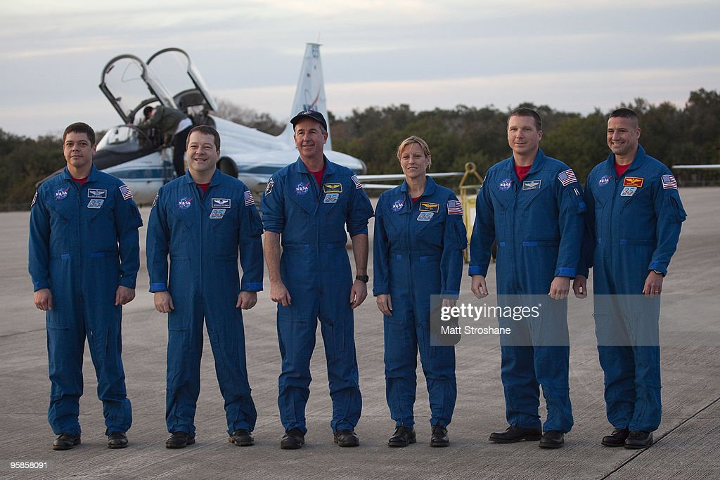 Endeavour Astronauts Arrive At KSC For Pre-Launch Tests : News Photo