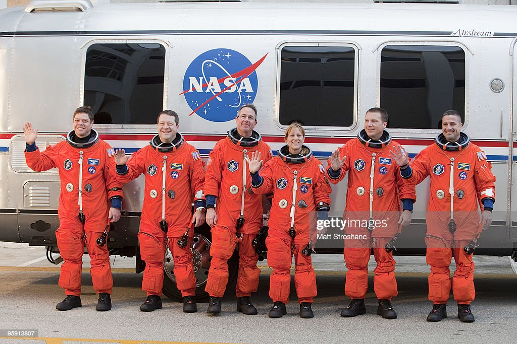 Endeavour Astronauts Suit Up For Countdown Demonstration Test : News Photo
