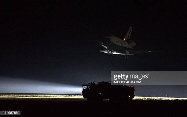 US space shuttle Endeavour comes in to land at Kennedy Space Center on June 1 2011 Endeavour landed safely at Kennedy Space Center wrapping up its...