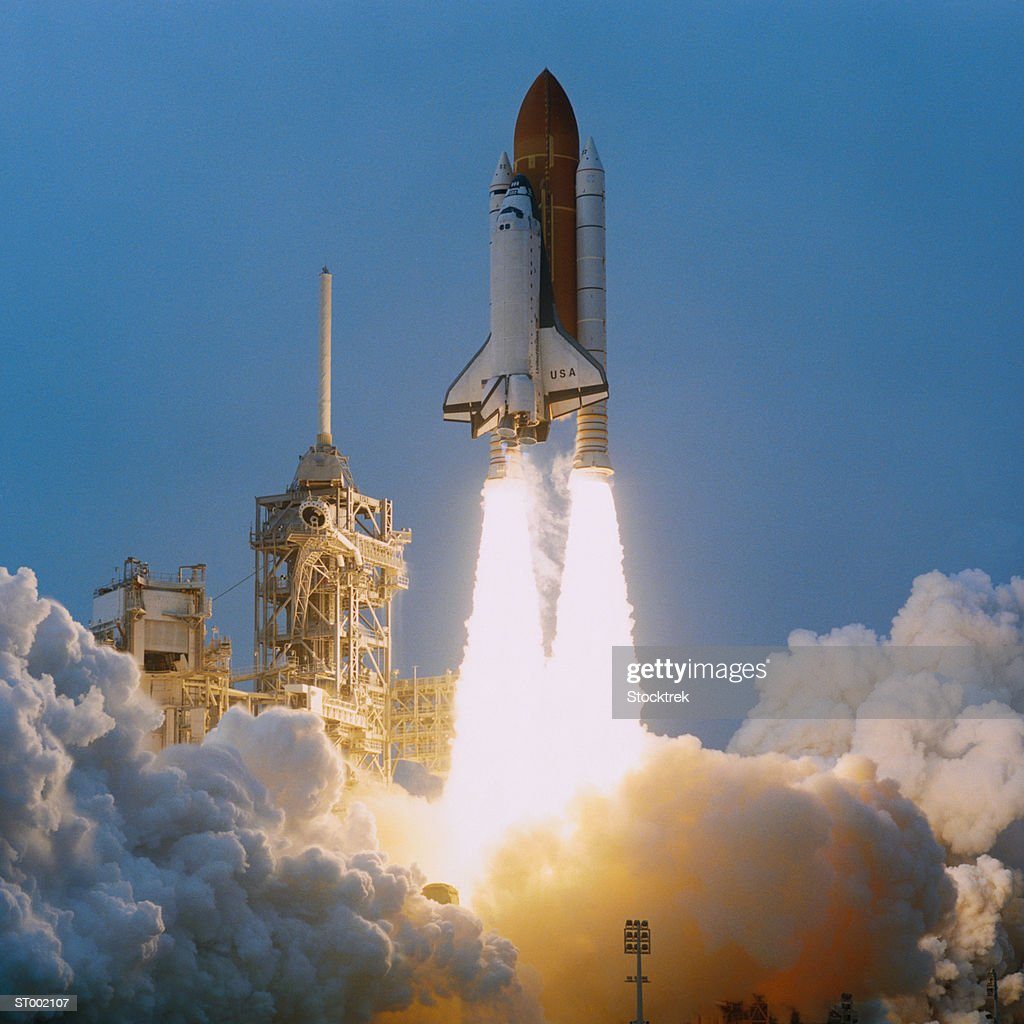 Space Shuttle Liftoff : Stock Photo