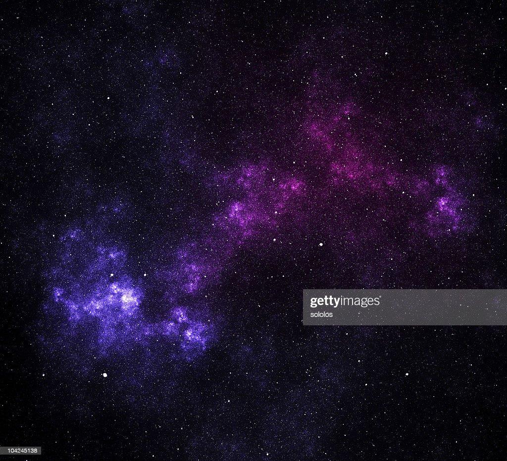Space Stars And Nebula Stock Photo