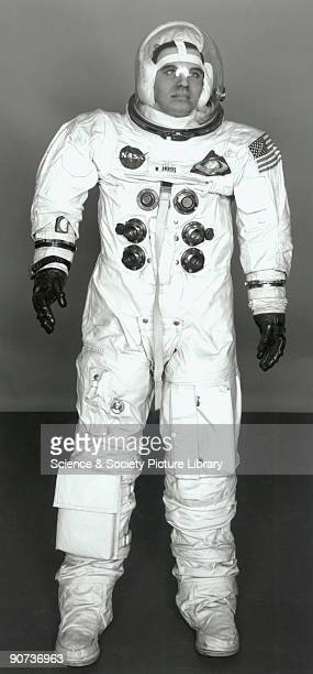 Space suit and helmet worn by William Anders on the Apollo 8 mission Christmas 1968