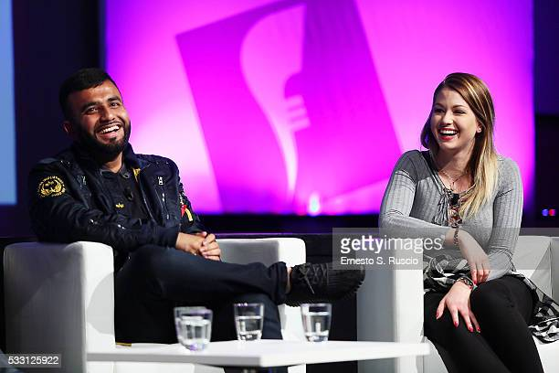 Space Tourist Hussain Manawer and influencer Enjoy Pheonix attend the 10th Festival Of Media Global at Waldorf Astoria Hotel on May 20 2016 in Rome...