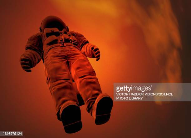 space travel, conceptual illustration - space mission stock pictures, royalty-free photos & images