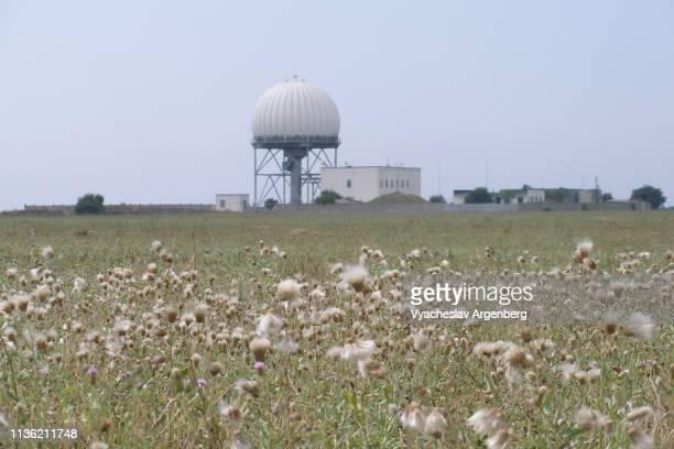 spacecraft control ground facilities, crimea - argenberg stock pictures, royalty-free photos & images