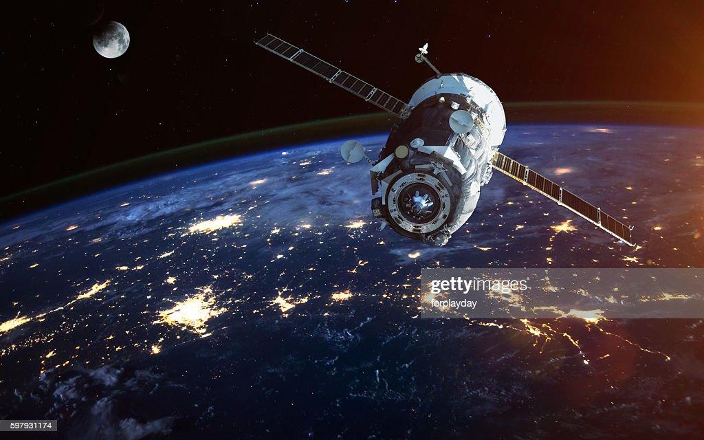宇宙船を起動しています。このイメージのの一部エレメントに家具 : ストックフォト