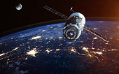 Spacecraft Launch Into Space. Elements of this image furnished by