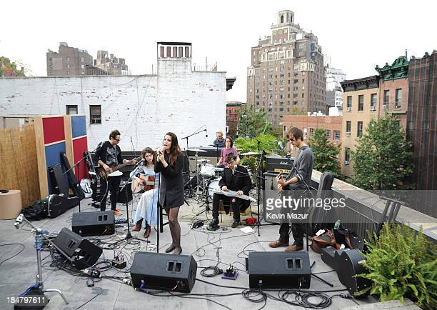Spacehog, Liv Tyler, Sean Lennon and Charlotte Kemp Muhl perform during soundcheck for a performance benefitting David Lynch Foundation at Electric...
