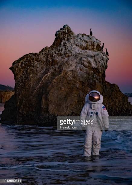 サーフの宇宙飛行士 - 映画のポスター ストックフォトと画像