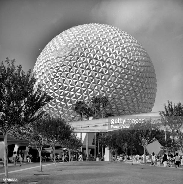 Spaceship Earth attraction at Epcot Center Disney World in Orlando FL Epcot opened on October 1 1982 RV758516