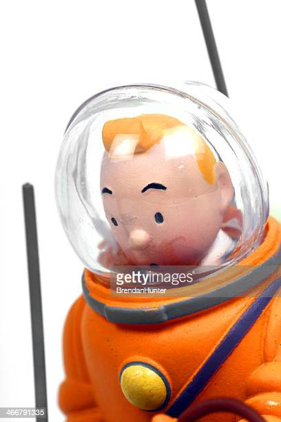 spacesuit - tintin stock photos and pictures