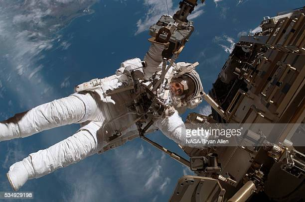 Spacewalk during STS-116 mission to the International Space Station