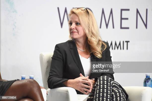 SpaceX COO Gwynne Shotwell seen on stage during the 2017 Forbes Women's Summit at Spring Studios on June 13 2017 in New York City