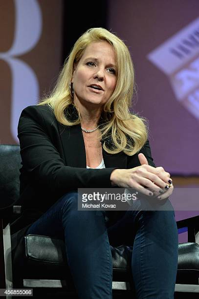 """SpaceX COO Gwynne Shotwell speaks onstage during """"Slingshots and Moonshots"""" at the Vanity Fair New Establishment Summit at Yerba Buena Center for the..."""