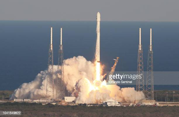 A SpaceX Falcon 9 rocket carrying a TESS spacecraft lifts off on April 18 from Space Launch Complex 40 at Cape Canaveral Air Force Station in Florida...