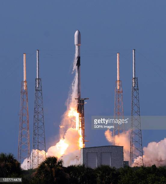 SpaceX Falcon 9 rocket carrying South Korea's ANASIS-II military communications satellite launched from pad 40 at Cape Canaveral Air Force Station....